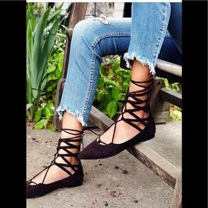 Jeffrey Campbell Shay Lace-up Flat